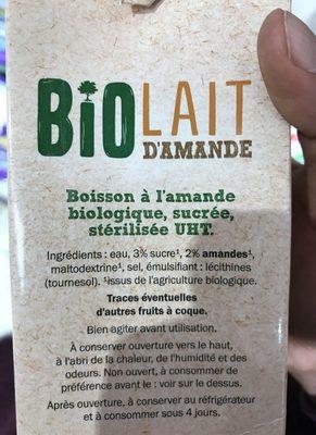 Lait d'Amande Bio - Produit - fr