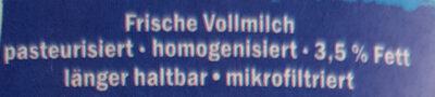 Bayrische Bauernmilch - Ingredienti - de