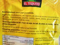 Melange pour Guacamole - Ingrédients