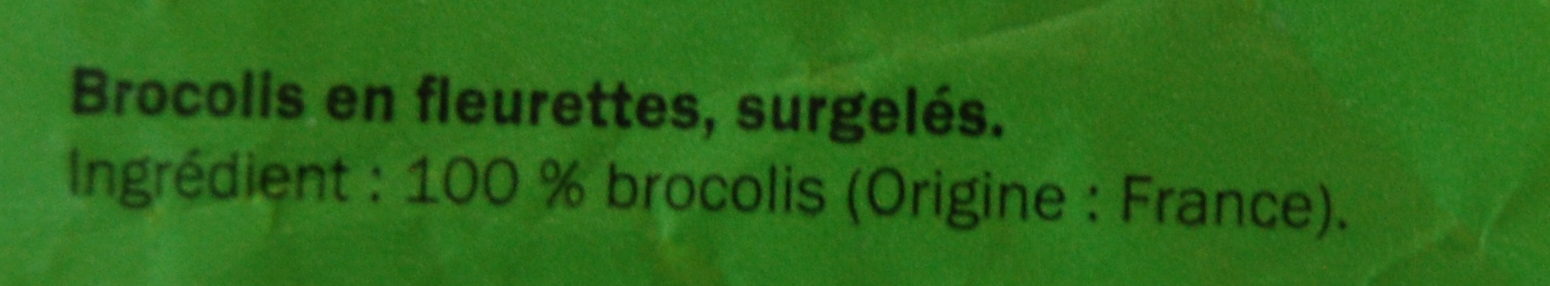 Brocolis en fleurettes - Ingredients - fr