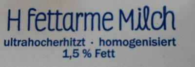 Milbona Haltbare Fettarme Milch - Inhaltsstoffe