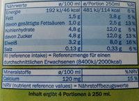 Milbona Haltbare Fettarme Milch - Nährwertangaben