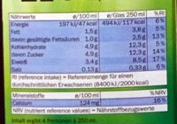 Frische fettarme Milch - Nutrition facts