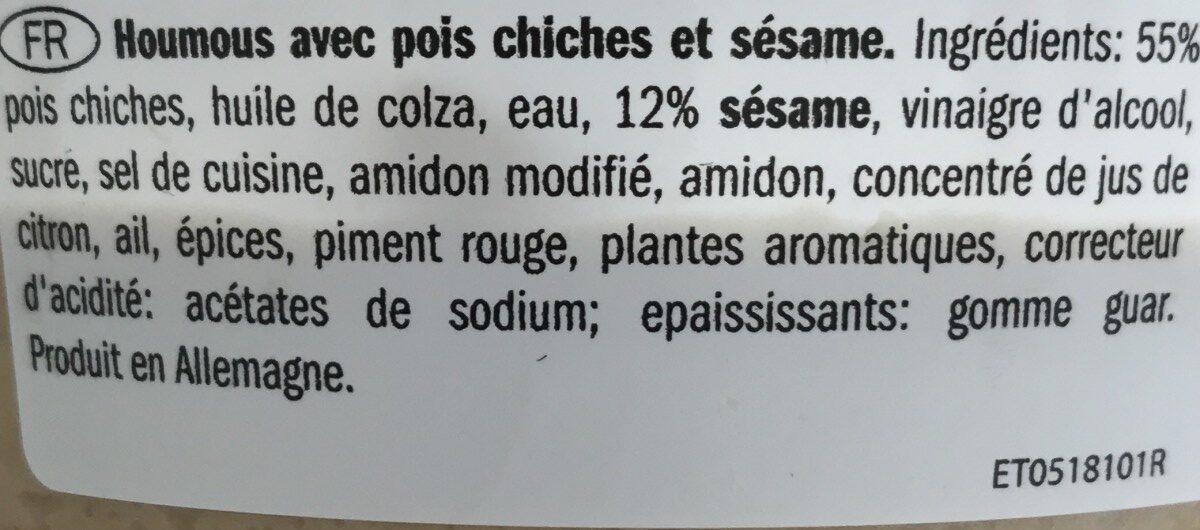 Hummus Classic - Ingrédients - fr
