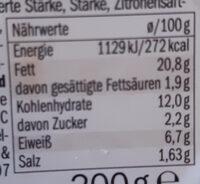 Hummus Classic - Informations nutritionnelles - de
