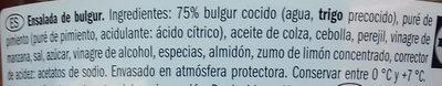 Ensalada de Bulgur - Ingredientes