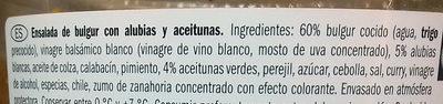 Ensalada de bulgur, alubias y aceitunas - Ingrédients