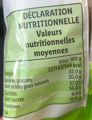 Favorina - Valori nutrizionali - fr