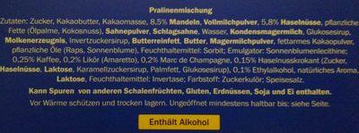 Pralinés Selection - Ingredienti - de