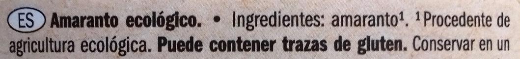 Amaranto - Ingredients - es