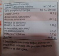 Sopa ternera con estrellitas - Nutrition facts - es