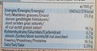 Bio Feta - Informations nutritionnelles - fr