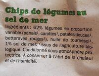 Chips de légumes au sel de mer - Ingrédients