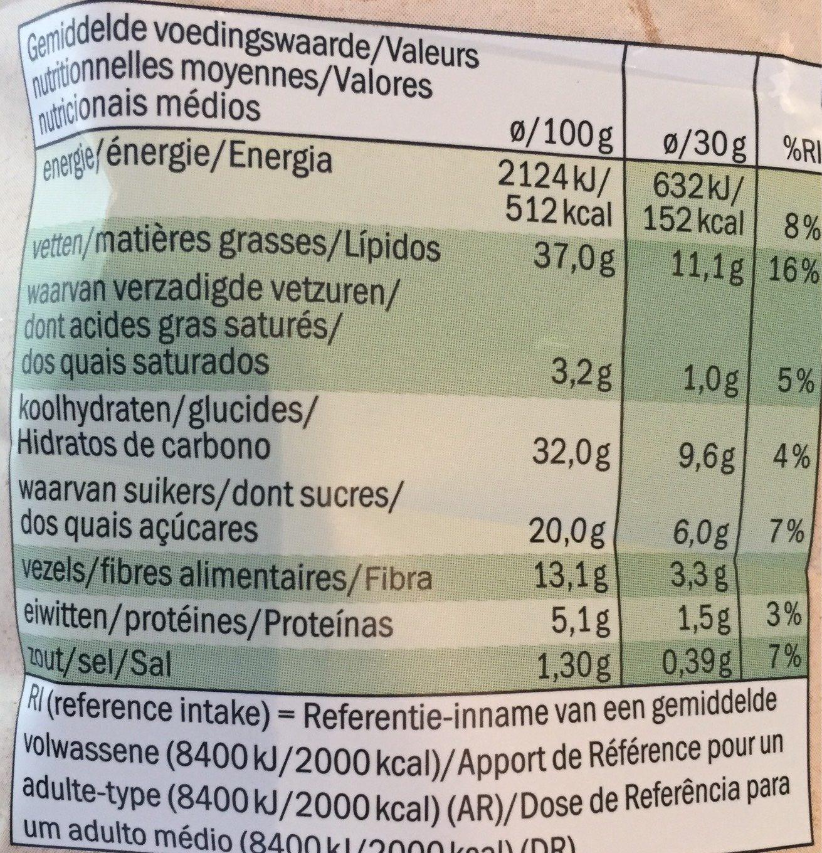 Chips de légumes au sel de mer - Informations nutritionnelles