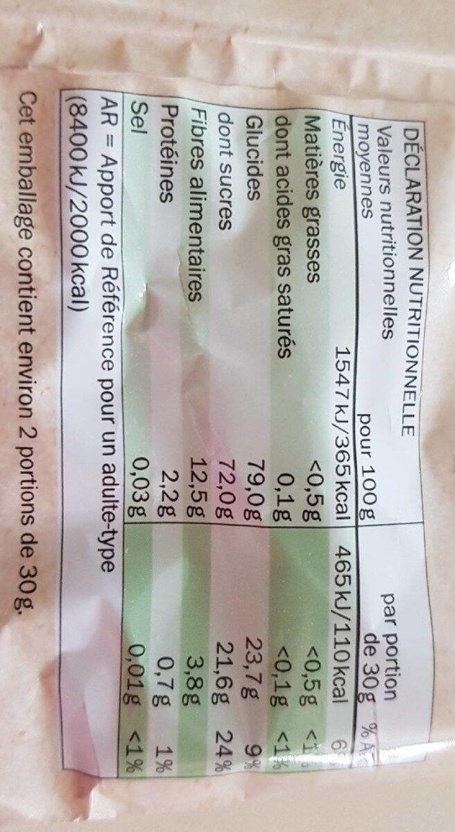 Chips de pomme - Informations nutritionnelles - fr