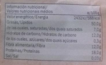Graines de sésame bio - Información nutricional - es