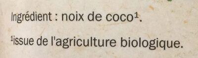 Chips de Noix de Coco Bio - Ingrédients - fr