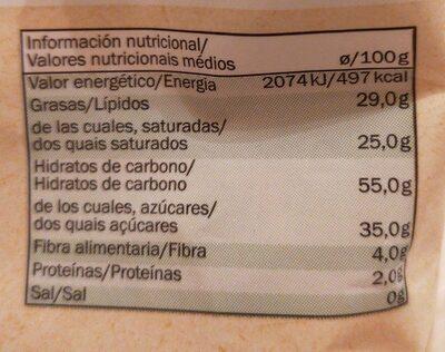 Chips de bananes bio - Informations nutritionnelles - fr