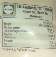 Pistaches toastés et salés - Informations nutritionnelles - fr