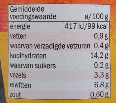 Black eyed beans - Voedingswaarden - nl