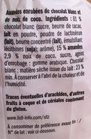Boule de coco et chocolat blanc - Ingrédients - fr