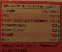 Erdbeere-Rhabarber - Nutrition facts - de