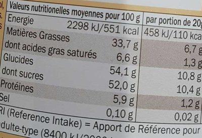Choco - Pâte à tartiner aux noisettes et au cacao maigre - Informazioni nutrizionali - fr