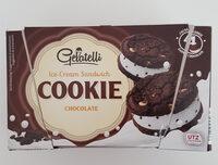 Gelatelli Ice Cream Sandwich choco cookie - Product - fr