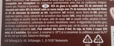 Gelatelli Ice Cream Sandwich choco cookie - Ingredients - fr