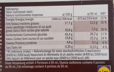 Gelatelli Ice Cream Sandwich choco cookie - Nutrition facts - fr