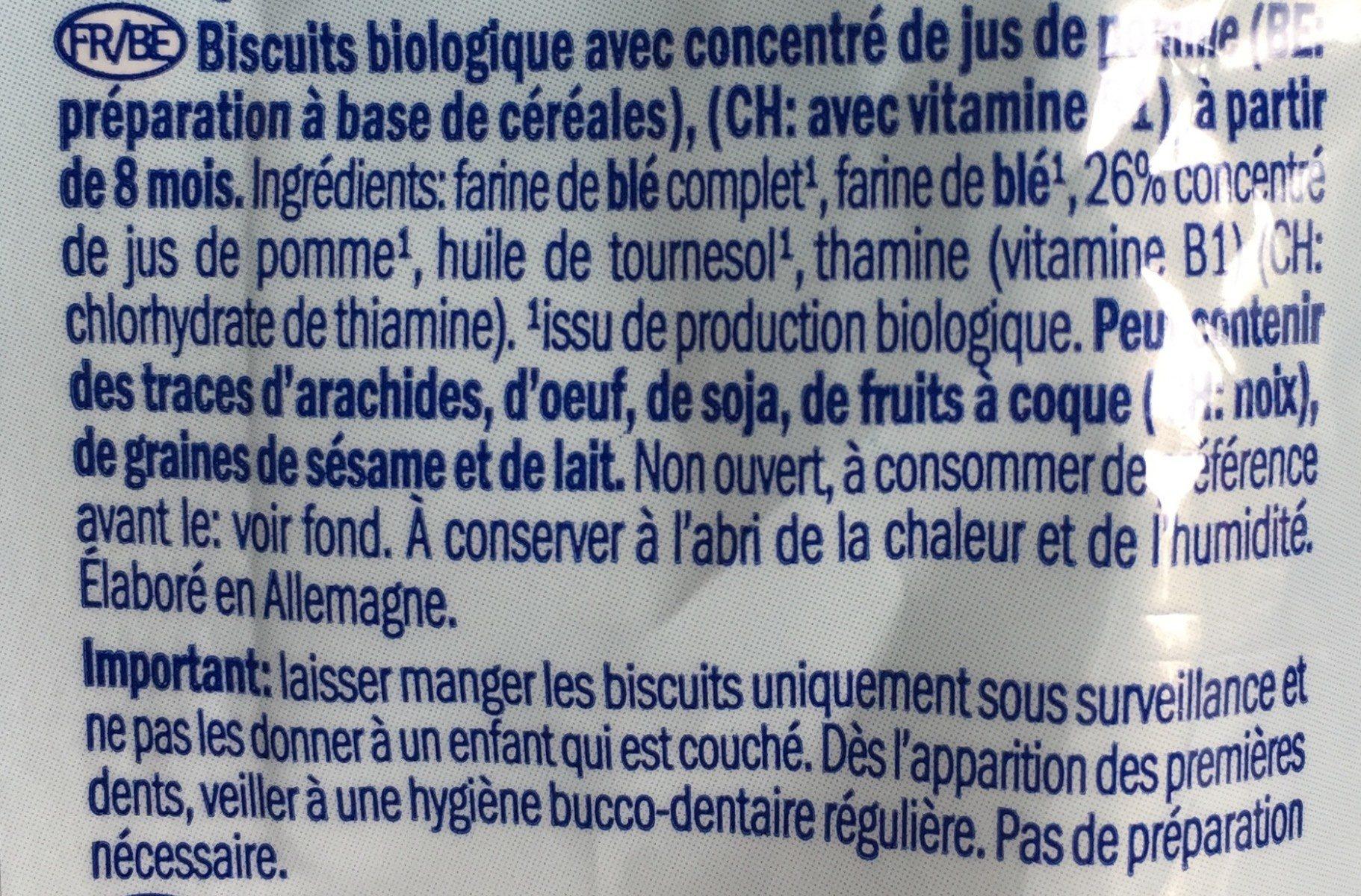 Apple biscuits - Ingrédients - fr