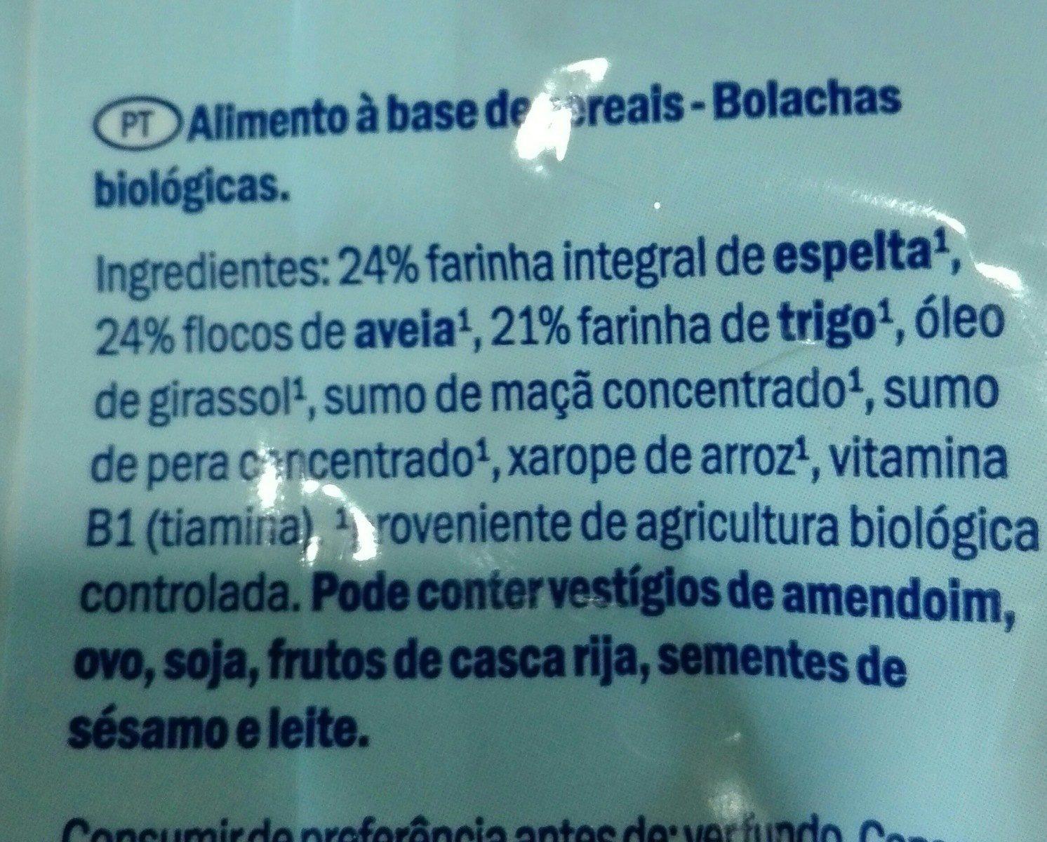 Galletas de avena - Ingrédients
