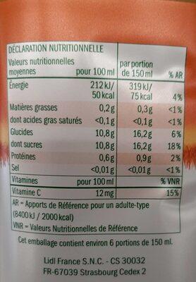 Solevita Petit Déjeuner - Valori nutrizionali