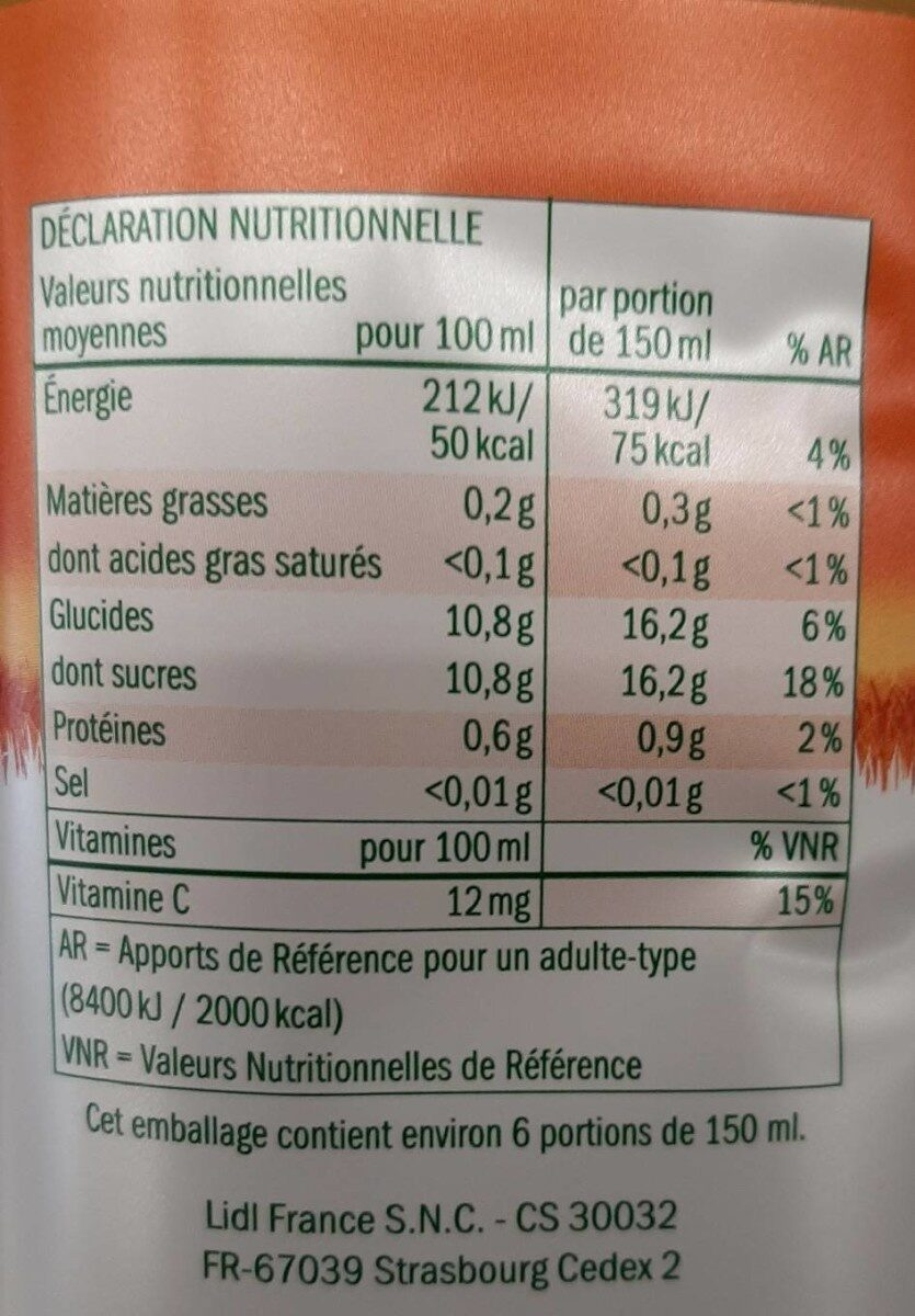 Solevita Petit Déjeuner - Valori nutrizionali - fr