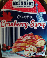 Canadian Cranberry Syrup - Product