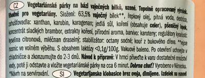 My Best Veggie Bratwurst - Složení - cs