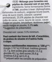 Brownie Mix - Informations nutritionnelles - fr