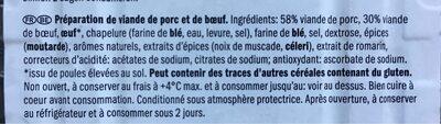 Haché porc & boeuf - Ingrediënten