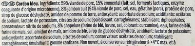 Cordon bleu de porc - Ingrediënten - fr