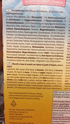 Envitas Fraise et Yaourt - Ingrediënten