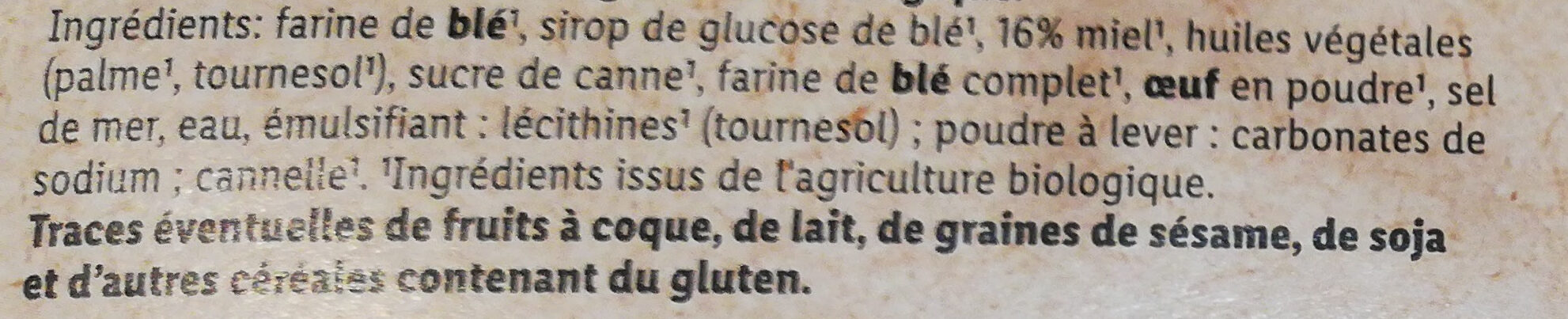 Bio Waffles - Ingredients - fr