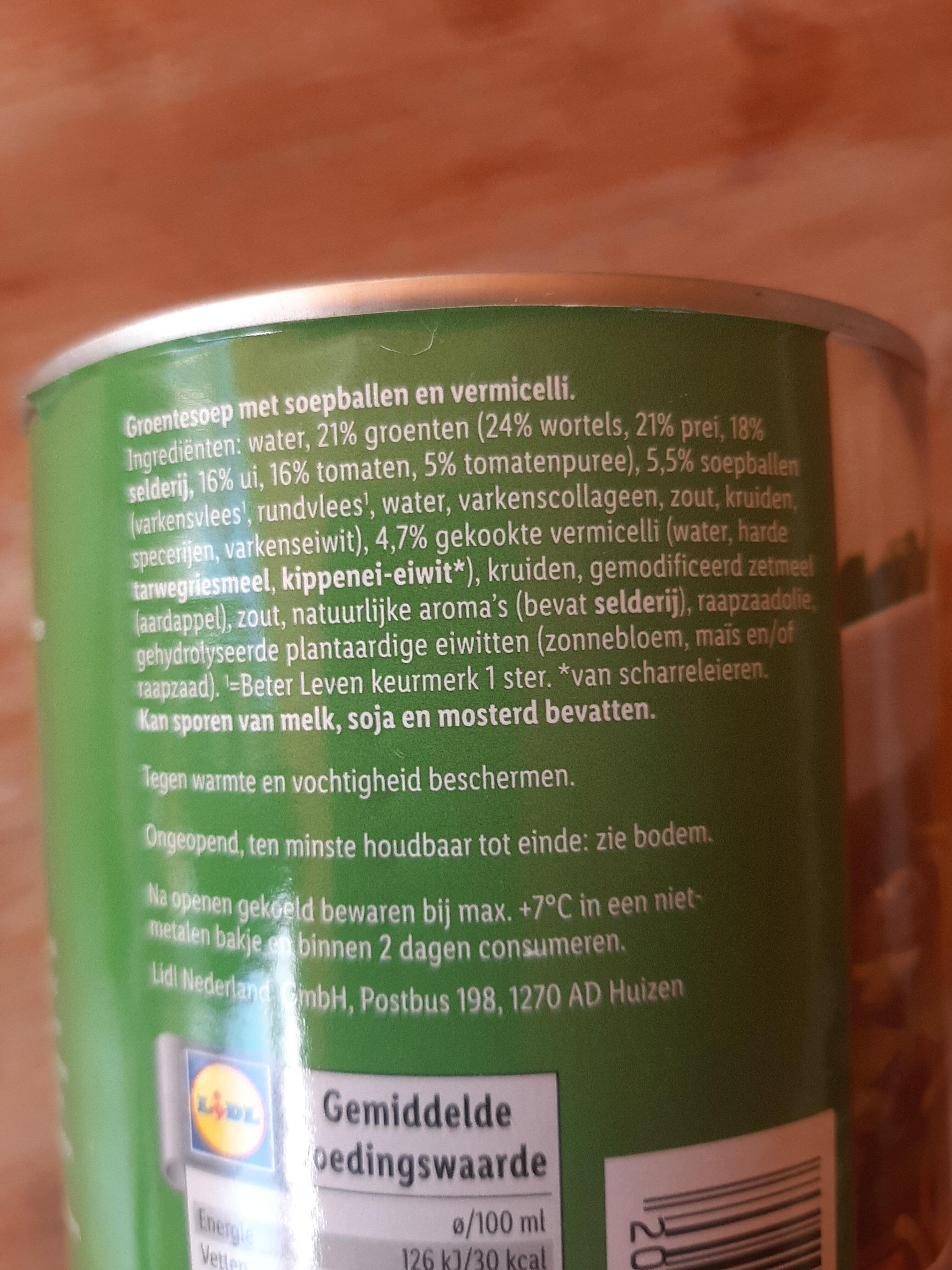 Groentesoep - Ingredients - nl