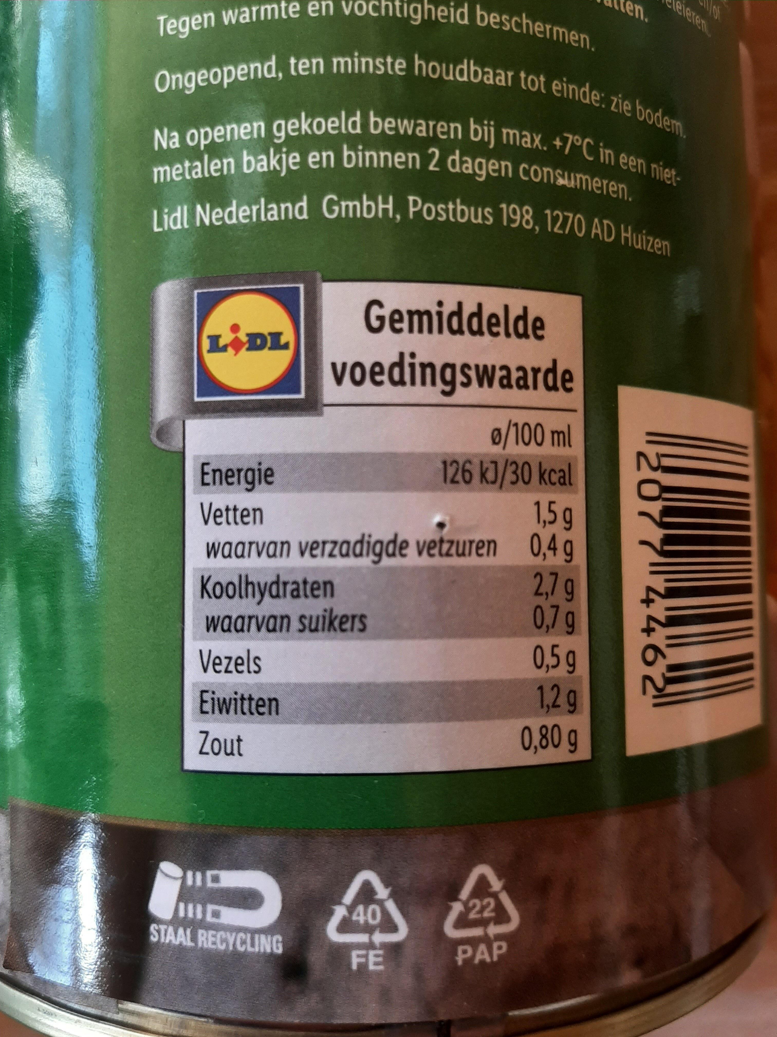 Groentesoep - Nutrition facts - nl