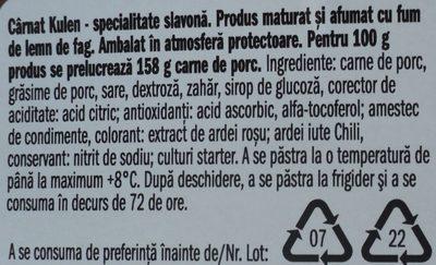Nostja Carnat Kulen - Ingrédients