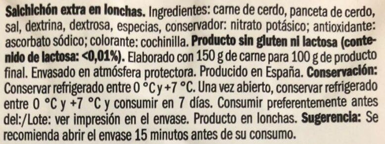 Salchichón de León - Ingredients - es