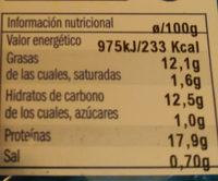 Filete de merluza rebozado - Voedigswaarden