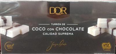 Turrón de coco con chocolate - Producto - es
