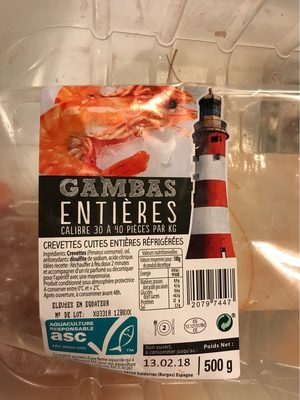 Gambas entiered - Product