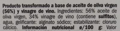 Perlas de aceite en vinagreta - Ingredients
