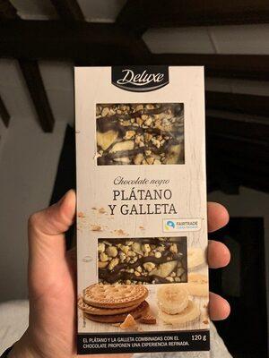 Chocolate negro platano y galleta